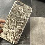 【iPhone6/7 Plus】銀紙・アルミ箔モチーフのスマホケース(シルバー)