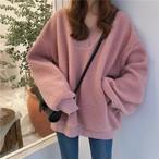 【tops】甘い雰囲気可愛さ存在感抜群の色合いセーター 24492105