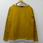 Unisex Audience レイヤードバスクシャツ COL,TURMERIC