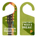 LESSON IN PROGRESS 練習中 ギター[1130] 【全国送料無料】 ドアノブ ドアプレート メッセージプレート