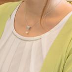 オリジナルakoyaケシとイエローパールの三角モチーフのペンダント【あこや真珠】P-1666