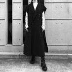 【UNISEX】スリーブレスロングジャケット SLEEVELESS LONG JACKET / Black
