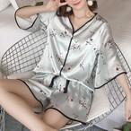 HOT【パジャマ】2点セット半袖vネック大きいサイズルームウェアパジャマ上下セット30697031