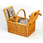 LoaMythos 両開きAll in One Picnic Basket(2人用) 保温 保冷 クーラー バッグ付 lm1003670 ピクニック バスケット アウトドア キャンプ グッズ