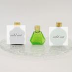 ボヘミアガラスの香水瓶::: 緑系