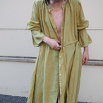 【ethical hippi】sleeve tuck one-piece(pistachio) / 【エシカル ヒッピ】スリーブ タック ワンピース(ピスタチオ)