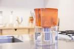 ガイアの水135 オレンジ ポット型浄水器(カートリッジ付)