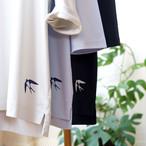 つばめプリント5分袖Tシャツアシャオーガニックコットン *プラネード