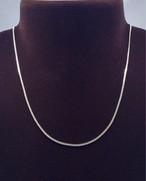 高品質Silver925パーツ・喜平チェーンネックレス(長さ45cm 幅約1.3mm)
