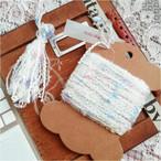 §koko§ 引き揃え糸カード ~kawaii~花束~ オリジナル糸 ファンシー ラッピング レース タッセル