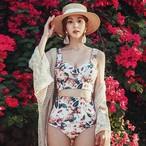 「ビキニ・水着」ファッションプリントプルオーバーワイヤー入りビキニ20395992