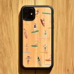 """バンブーiPhoneケース """"SURF GIRLS"""" 【各機種対応】"""