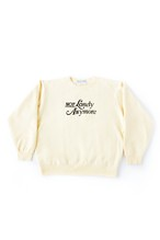 not lonely Any More Crew Sweat shirt Cream Yellow