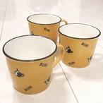 フレンチブルドッグ パイド&BUHIロゴ ホーローチックなマグカップ
