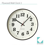 KATOMOKU plywood wall clock 3 km-43B