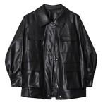 【Select】Punk Leather Coat
