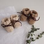 GOOSEBERRY FOOL Cotton Suede Cord Booties(全2色/2サイズ)