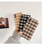 Gingham plaid iphone case