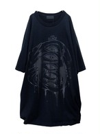 【#000000】  black-BIG_T-shirt#004
