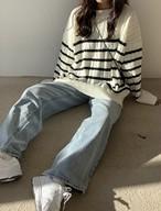 マグレットボーダーニット ニット セーター 韓国ファッション
