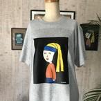 【巨匠動物園】青いハチマキの子Tシャツ(グレー)