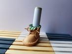 ミニチュアブーツの印鑑スタンド(片足)