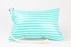 Pillow Bag (plumpillow purse)【Border Green】まくら×ポーチ アウトドア