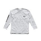 ポケットロングTシャツ 《ミックスグレー》