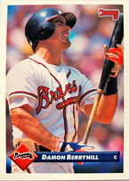 MLBカード 93DONRUSS Damon Berryhill #078 BRAVES
