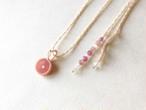 ロードクロサイト macrame necklace
