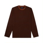 Black Stripe Knit Top(Brown/Black)