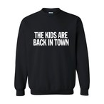 "【受注生産】""THE KIDS ARE BACK IN TOWN LOGO"" Sweatshirt BLACK"