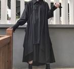 トップス ロング シャツ レディース モード系 ゴシック ブラウス 韓国 原宿 個性的【tb-649】
