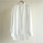 H.UNIT【 mens 】broadcloth band-collar shirts
