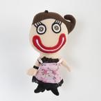 ストラップ キモエ人形(ピンクドレス)