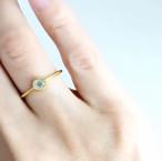 【Tiny tiny ring】カルセドニーのリング