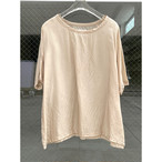 【hippiness】cupro wide Tshirt (beige)/【ヒッピネス】キュプラ ワイド Tシャツ(ベージュ)