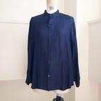 【hippiness】cupro A line shirt (Jacquard14navy)/【ヒッピネス】キュプラ Aライン シャツ(ジャガード14ネービー)