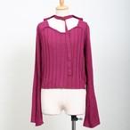 Bell Sleeve Choker Knit Tops