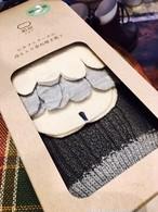 4足重ね履き冷え取り靴下 ウール編み柄