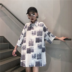 BF風 レトロ柄 プリントシャツ Tシャツ【0132】