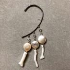 真珠と人魚姫のイヤーフック