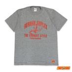 TM-GE2001 TAKAYAMANIA GERMAN Tシャツ 杢グレーxレッド