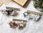 裂き布フープ耳飾り  petals antique (パーツ変更可能)