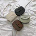 【送料無料】 バッグもおしゃれに♡ ラウンド型 レトロ ミニサイズ ショルダーバッグ PU チェーンバッグ カバン