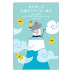セブンオレンジ 2020ねずみ年賀状《富士山とねずみ》(写真用(光沢)年賀葉書印刷タイプ)