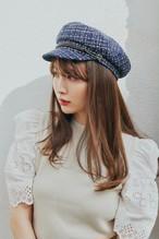 Cotton-Tweed Marine Cap