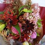 季節の花束ピンクボルドー系 (スタンダードタイプ)