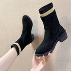 【shoes】海外トレンド注目される切り替えミドル丈ブーツ 24595457