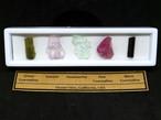 カリフォルニア産 原石セット #1  T080 ピンクトルマリン/クンツァイト/アクアマリン/グリーントルマリン/ブラックトルマリン